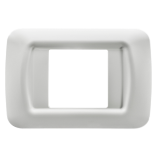 TOP SYSTEM PLATE - IN TECHNOPOLYMER GLOSS FINISHING - 2 GANG - CLOUD WHITE - SYSTEM