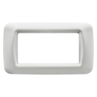 TOP SYSTEM PLATE - IN TECHNOPOLYMER GLOSS FINISHING - 4 GANG - CLOUD WHITE - SYSTEM