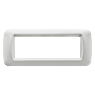 TOP SYSTEM PLATE - IN TECHNOPOLYMER GLOSS FINISHING - 6 GANG - CLOUD WHITE - SYSTEM