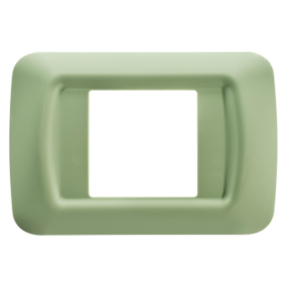 TOP SYSTEM PLATE - IN TECHNOPOLYMER GLOSS FINISHING - 2 GANG - VENETIAN GREEN - SYSTEM