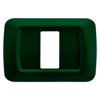 TOP SYSTEM PLATE - IN TECHNOPOLYMER GLOSS FINISHING - 1 GANG - RACING GREEN - SYSTEM