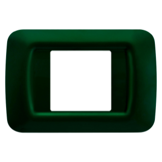 TOP SYSTEM PLATE - IN TECHNOPOLYMER GLOSS FINISHING - 2 GANG - RACING GREEN - SYSTEM