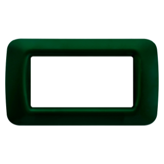 TOP SYSTEM PLATE - IN TECHNOPOLYMER GLOSS FINISHING - 4 GANG - RACING GREEN - SYSTEM