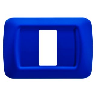 TOP SYSTEM PLATE - IN TECHNOPOLYMER GLOSS FINISHING - 1 GANG - JAZZ BLUE - SYSTEM
