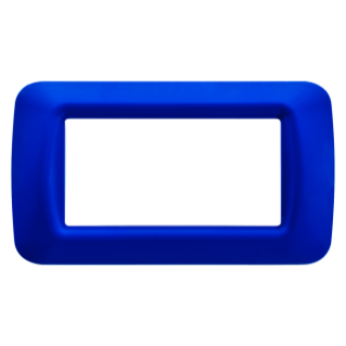 TOP SYSTEM PLATE - IN TECHNOPOLYMER GLOSS FINISHING - 4 GANG - JAZZ BLUE - SYSTEM