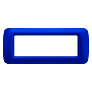 TOP SYSTEM PLATE - IN TECHNOPOLYMER GLOSS FINISHING - 6 GANG - JAZZ BLUE - SYSTEM