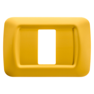 TOP SYSTEM PLATE - IN TECHNOPOLYMER GLOSS FINISHING - 1 GANG - CORN YELLOW - SYSTEM