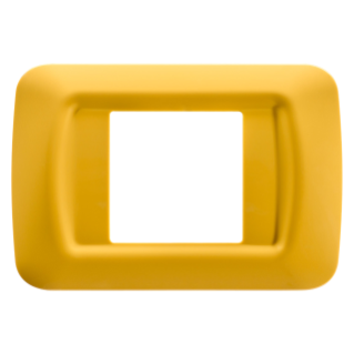 TOP SYSTEM PLATE - IN TECHNOPOLYMER GLOSS FINISHING - 2 GANG - CORN YELLOW - SYSTEM