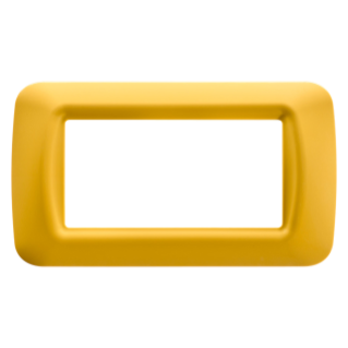 TOP SYSTEM PLATE - IN TECHNOPOLYMER GLOSS FINISHING - 4 GANG - CORN YELLOW - SYSTEM