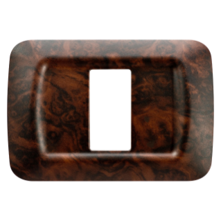 TOP SYSTEM PLATE - IN TECHNOPOLYMER - 1 GANG - ENGLISH WALNUT - SYSTEM