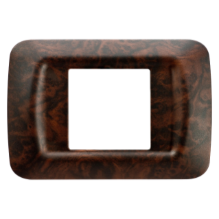 TOP SYSTEM PLATE - IN TECHNOPOLYMER - 2 GANG - ENGLISH WALNUT - SYSTEM
