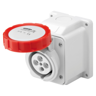 10° ANGLED SURFACE-MOUNTING SOCKET-OUTLET - IP67 - 2P+E 16A 380-415V 50/60HZ - RED - 9H - SCREW WIRING