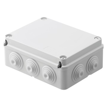 Junction boxes with plain screwed lid - IP55 - Grey RAL 7035