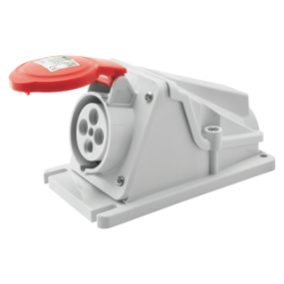 90° ANGLED SURFACE-MOUNTING SOCKET-OUTLET - IP44 - 3P+E 16A 380-415V 50/60HZ - RED - 6H - SCREW WIRING