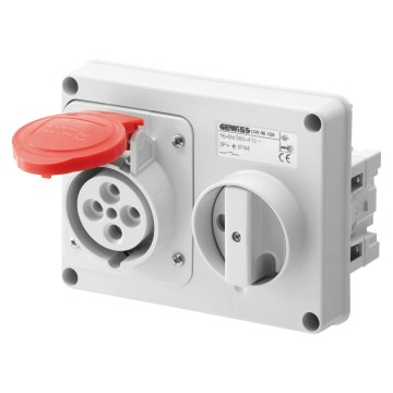 Horizontal interlocked socket outlets - 50/60Hz