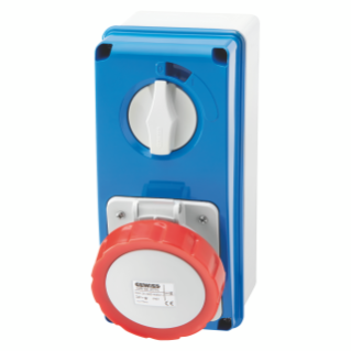 VERTICAL FIXED INTERLOCKED SOCKET OUTLET - WITH BOTTOM - WITHOUT FUSE-HOLDER BASE - 3P+N+E 32A 346-415V - 50/60HZ 6H - IP67