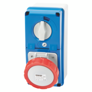 VERTICAL FIXED INTERLOCKED SOCKET OUTLET - WITH BOTTOM - WITH FUSE-HOLDER BASE - 3P+N+E 16A 346-415V - 50/60HZ 6H - IP67