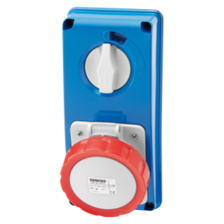 VERTICAL FIXED INTERLOCKED SOCKET OUTLET - WITHOUT BOTTOM - WITHOUT FUSE-HOLDER BASE - 3P+N+E 32A 346-415V - 50/60HZ 6H - IP67