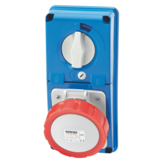 VERTICAL FIXED INTERLOCKED SOCKET OUTLET - WITHOUT BOTTOM - WITH FUSE-HOLDER BASE - 3P+N+E 16A 346-415V - 50/60HZ 6H - IP67