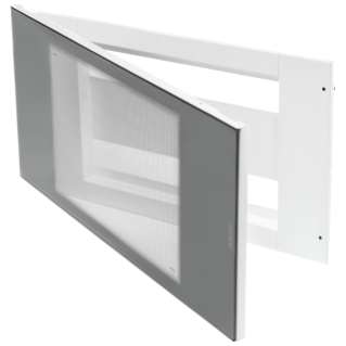 DOMO CENTER - ENCLOSURE - 40 MODULES - DOOR SMOKED TRANSPARENT GLASS - WHITE RAL 9003