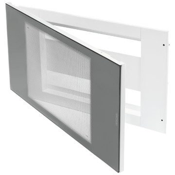 40 module enclosure with door in smoked transparent glass Front in white metal RAL 9003
