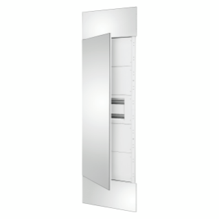 DOMO CENTER - FRONT KIT - MIRROR FINISH DOOR - 1 ENCLOSURE 40 MODULES - H.2400 - METAL - WHITE RAL 9003