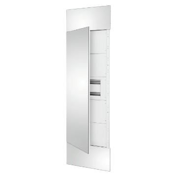 System column front kit with mirror finish panels and door, 1 underdoor enclosure 40 M and underdoor panels white RAL 9003