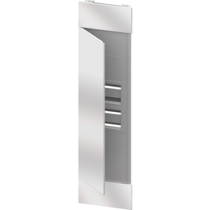 DOMO CENTER - FRONT KIT - MIRROR FINISH DOOR - 2 ENCLOSURES 40 MODULES - H.2700 - WHITE METAL RAL 9003