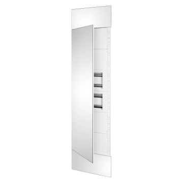 System column front kit with mirror finish panels and door, 2 underdoor enclosures 40 M and underdoor panels white RAL 9003