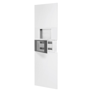 "DOMO CENTER - FRONT KIT - WITHOUT DOOR - 1 ENCLOSURE 40 MODULES - 1 MASTER ICE 10"" - H.2400 - METAL - WHITE RAL 9003"