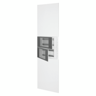 DOMO CENTER - KIT FRONTAL - SIN PUERTA - 2 PANEL TRUQUELADOS 40 MODULI - H.2700 - METÁLLICOS - BLANCO RAL 9003