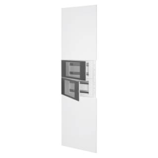 DOMO CENTER - KIT FRONTAL - SANS PORTE - 2 COFFRETS 40 MODULES - H.2700 - MÉTAL - BLANC RAL 9003