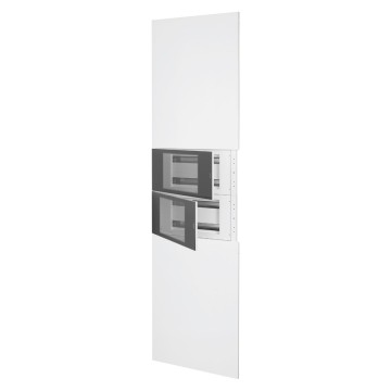 System column front kit with finish panels in white metal RAL 9003 and 2 enclosure - 40 modules