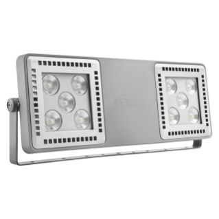 SMART [4] 2.0 FL - 5+5 LED - RESTRICTED 30° - STAND ALONE - 4000 K (CRI 80) - 220/240 V 50/60 Hz - IP66 - CLAS I - GREY RAL 7037