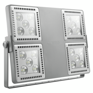 SMART [4] 2.0 FL - 4X5 LED - DIFFUSED 100° - STAND ALONE - 3000 K (CRI 80) - 220/240 V 50/60 Hz - IP66 - CLAS I - GREY RAL 7037