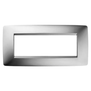 ONE PLATE - IN METALLISED TECHNOPOLYMER - 6 GANG - CHROME - CHORUS
