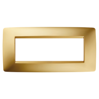 ONE PLATE - IN METALLISED TECHNOPOLYMER - 6 GANG - GOLD - CHORUS