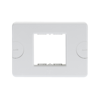 COMPACT PLATE - SELF-SUPPORTING - 2 GANG - CLOUD WHITE - SYSTEM
