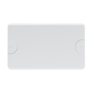 BLANK PLATE FOR RETTANGOLARI FLUSH-MOUNTING BOXES - 6 GANG (3+3 OVERLAPPING) - WITH SCREW - TONER BLACK
