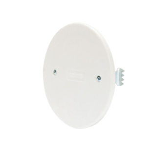 ROUND FLUSH MOUNTING BOX LID - Ø 85mm - WHITE - WITH EXPANSION