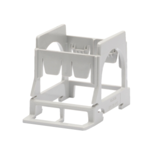 SUPPORT FOR MOUNTING SYSTEM RANGE COMPONENTS ON DIN RAIL - 2 GANG - 3 MODULES DIN