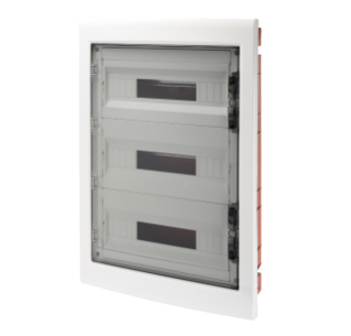 DISTRIBUTION BOARD - PANEL WITH WINDOW AND EXTRACTABLE FRAME - SMOKED DOOR - TERMINAL BLOCK N 3X[(3X16)+(17X10)] E 3X[(3X16)+(17X10)]-(18X3) 54M-IP40