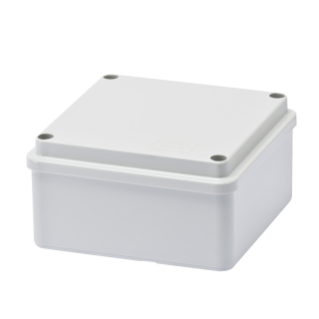 BOX FOR JUNCTIONS AND FOR ELECTRIC AND ELECTRONIC EQUIPMENT - WITH BLANK PLAIN LID - IP56 - INTERNAL DIMENSIONS 100X100X50 - WITH SMOOTH WALLS