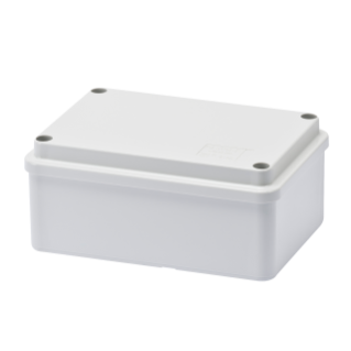 JUNCTION BOX WITH PLAIN SCREWED LID - IP56 - INTERNAL DIMENSIONS 120X80X50 - SMOOTH WALLS - GREY RAL 7035