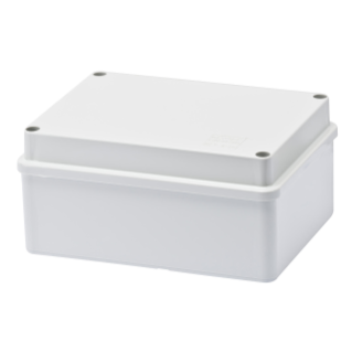 BOX FOR JUNCTIONS AND FOR ELECTRIC AND ELECTRONIC EQUIPMENT - WITH BLANK PLAIN LID - IP56 - INTERNAL DIMENSIONS 150X110 X70 - WITH SMOOTH WALLS