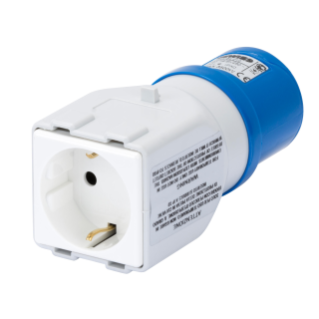 SYSTEM ADAPTOR - FROM INDUSTRIAL TO DOMESTIC IP44 - SOCKET-OUTLET 2P+E 16A 230V ac 50/60HZ - 1 PLUG 2P+E 10/16A GERMAN STD.