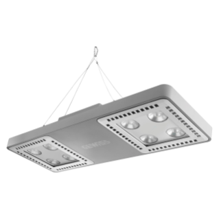 SMART [4] 2.0 HB - 4+4 LED - DIFFUSED 100° - STAND ALONE - 5700 K (CRI 80) - 220/240 V 50/60 Hz - IP66 - CLAS I - GREY RAL 7037