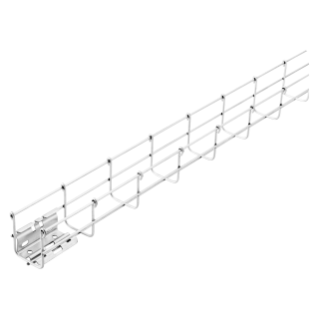 GALVANIZED WIRE MESH CABLE TRAY BFR60 - PRE-MOUNTED COUPLERS - LENGTH 3 METERS - WIDTH 600MM - FINISHING: HP