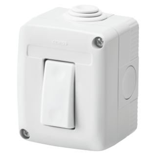 PROTECTED ENCLOSURE COMPLETE WITH SYSTEM DEVICES - WITH TWO-WAY SWITCH 1P 16 AX - IP40 - GREY RAL 7035