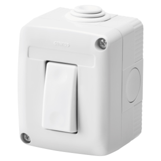 PROTECTED ENCLOSURE COMPLETE WITH SYSTEM DEVICES - WITH ONE-WAY SWITCH 1P 16 AX - IP40 - GREY RAL 7035